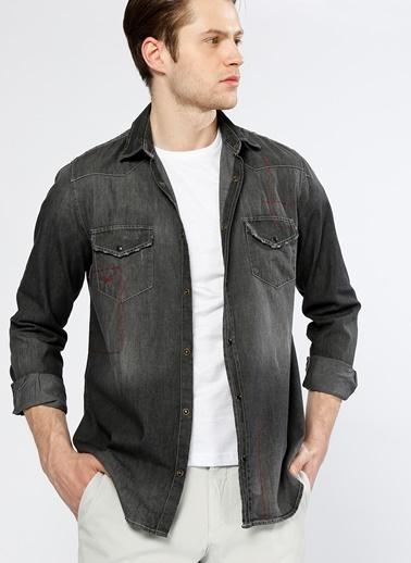 T-Box Uzun Kollu Gömlek Siyah